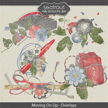 Moving On Up Overlays Digital Art - Digital Scrapbooking Kits