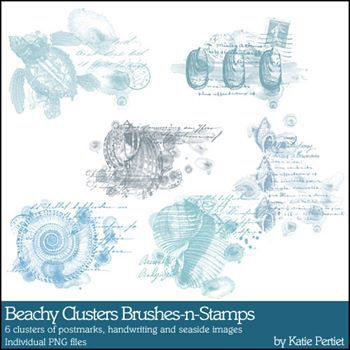 Beachy Clusters Brushes And Stamps