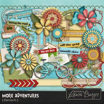 More Adventures Add On Elements Digital Art - Digital Scrapbooking Kits