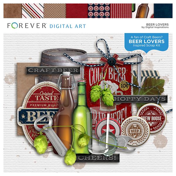 Beer Lovers Digital Art - Digital Scrapbooking Kits
