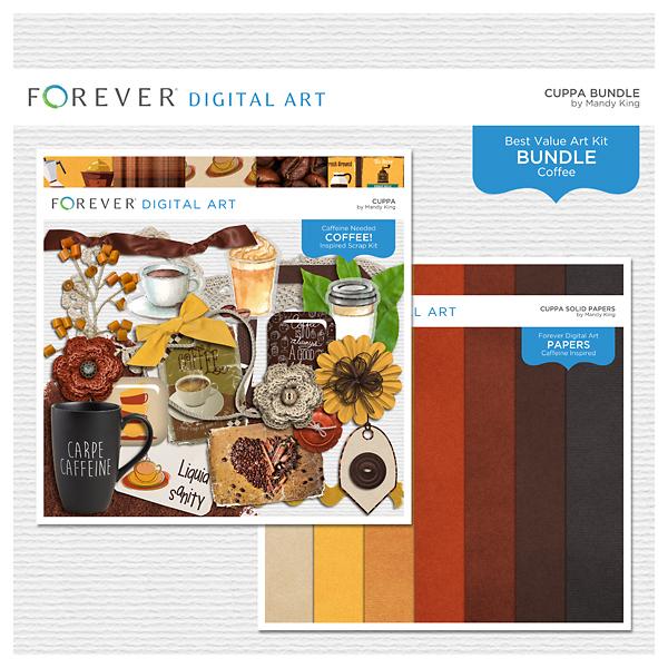 Cuppa Bundle Digital Art - Digital Scrapbooking Kits