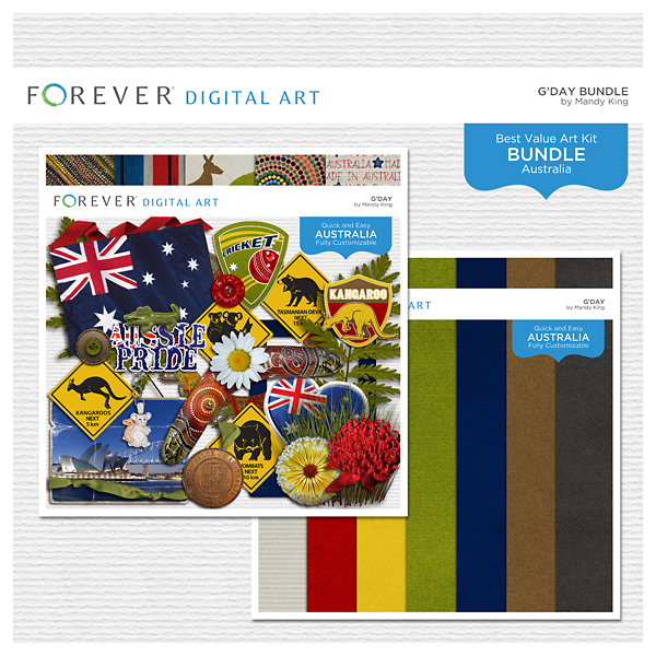 G'day Bundle Digital Art - Digital Scrapbooking Kits