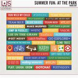 Summer Fun - At The Park - Word Art