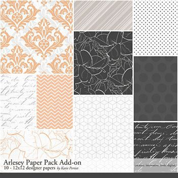 Arlesey Add-on Paper Pack Digital Art - Digital Scrapbooking Kits
