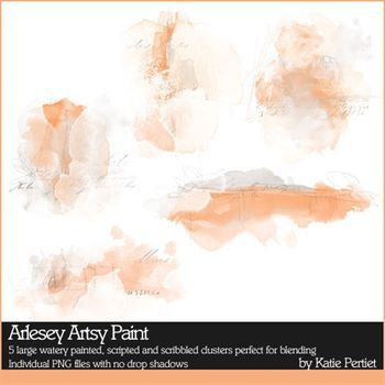 Arlesey Artsy Paint Digital Art - Digital Scrapbooking Kits