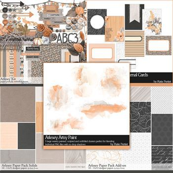 Arlesey Scrapbooking Collection Digital Art - Digital Scrapbooking Kits