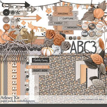 Arlesey Scrapbooking Kit Digital Art - Digital Scrapbooking Kits
