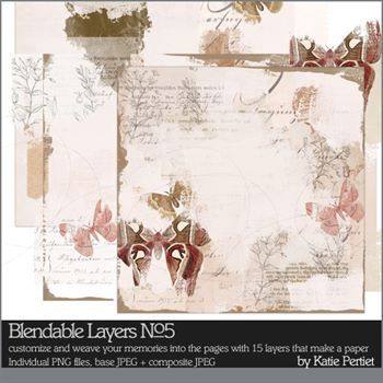 Blendable Layers No. 05 Digital Art - Digital Scrapbooking Kits