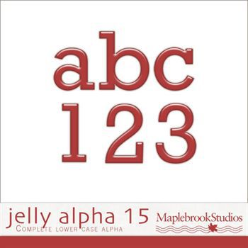 Jelly Alphabet No. 15 Digital Art - Digital Scrapbooking Kits