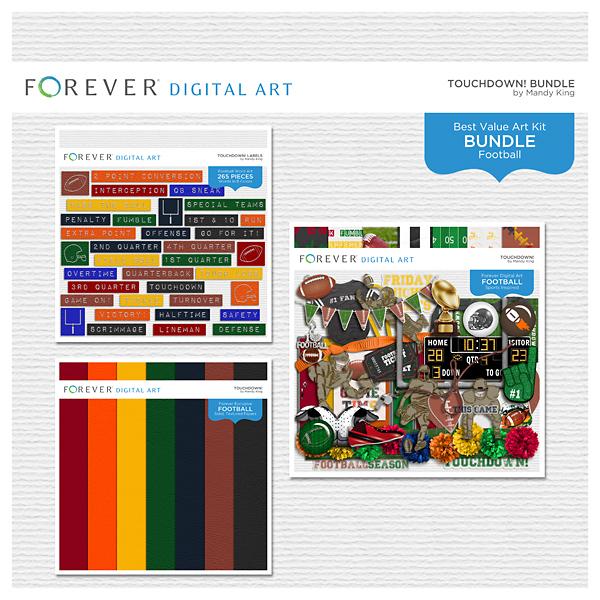 Touchdown! Bundle Digital Art - Digital Scrapbooking Kits