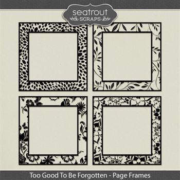 Too Good To Be Forgotten Cut Out Frames Digital Art - Digital Scrapbooking Kits