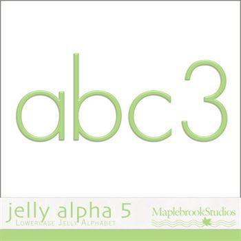 Jelly Alphabet No. 05 Digital Art - Digital Scrapbooking Kits