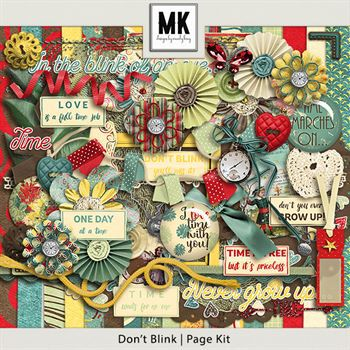 Don't Blink - Page Kit Digital Art - Digital Scrapbooking Kits