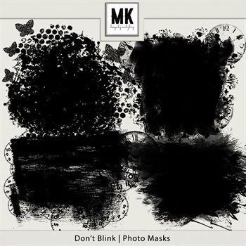 Don't Blink - Photo Masks Digital Art - Digital Scrapbooking Kits