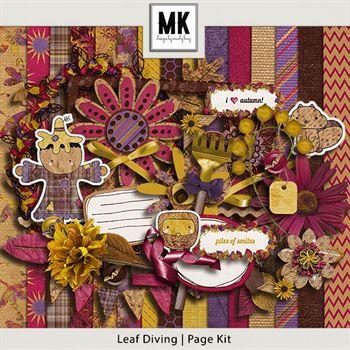 Leaf Diving - Page Kit Digital Art - Digital Scrapbooking Kits