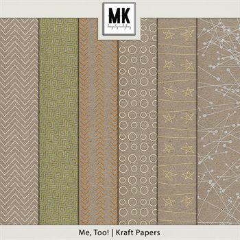Me, Too! - Kraft Papers Digital Art - Digital Scrapbooking Kits