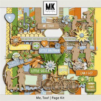 Me, Too! - Page Kit Digital Art - Digital Scrapbooking Kits