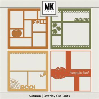 Overlay Cut-outs Autumn Digital Art - Digital Scrapbooking Kits