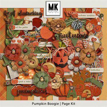 Pumpkin Boogie - Page Kit Digital Art - Digital Scrapbooking Kits