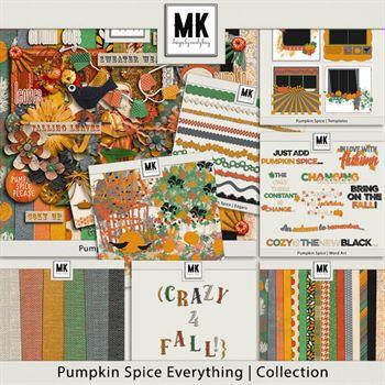 Pumpkin Spice Everything - Discounted Bundle Digital Art - Digital Scrapbooking Kits