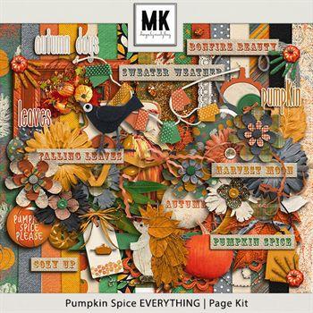 Pumpkin Spice Everything - Page Kit Digital Art - Digital Scrapbooking Kits