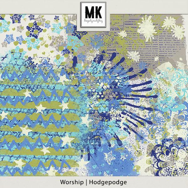 Worship - Hodgepodge Digital Art - Digital Scrapbooking Kits