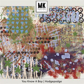 You Know A Boy - Hodgepodge Digital Art - Digital Scrapbooking Kits