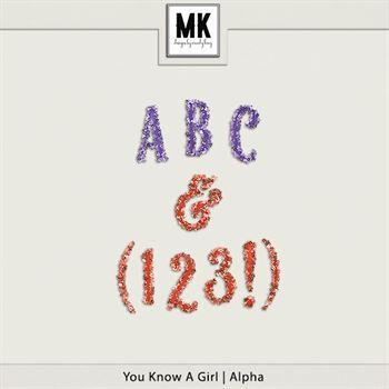You Know A Girl - Alpha Digital Art - Digital Scrapbooking Kits