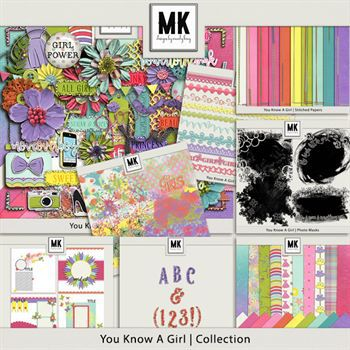 You Know A Girl - Discounted Bundle Digital Art - Digital Scrapbooking Kits