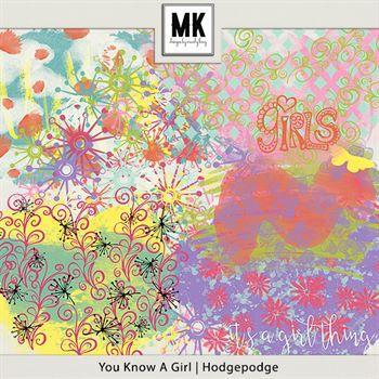 You Know A Girl - Hodgepodge Digital Art - Digital Scrapbooking Kits