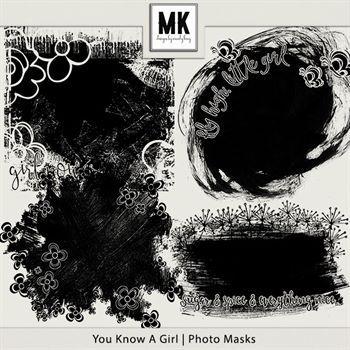 You Know A Girl - Photo Masks Digital Art - Digital Scrapbooking Kits