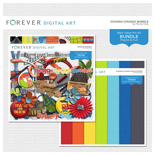 Chugga Chugga Bundle Digital Art - Digital Scrapbooking Kits