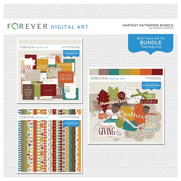 Harvest Gathering Bundle Digital Art - Digital Scrapbooking Kits