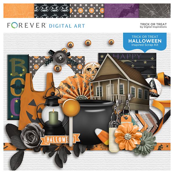 Trick Or Treat Digital Art - Digital Scrapbooking Kits