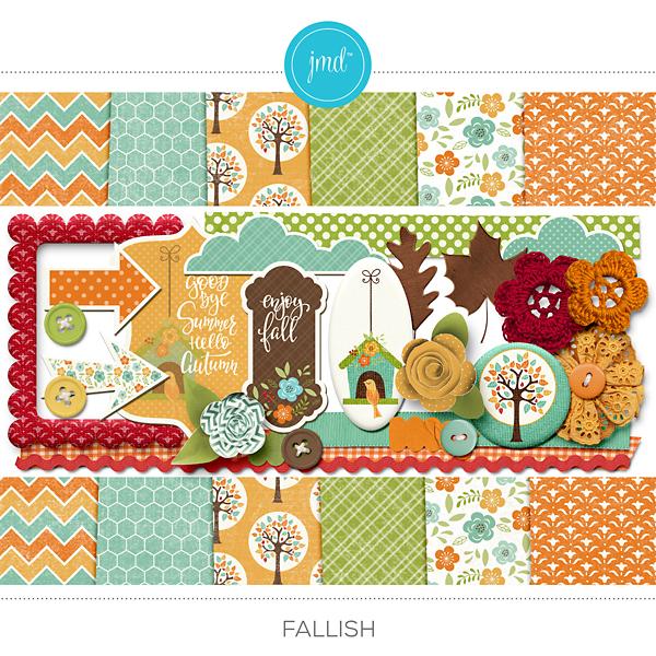 Fallish Kit Digital Art - Digital Scrapbooking Kits