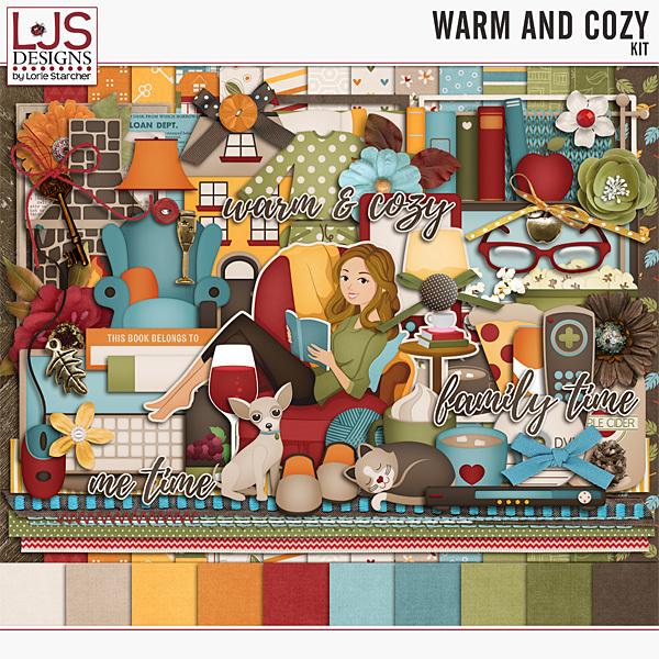 Warm And Cozy - Kit Digital Art - Digital Scrapbooking Kits