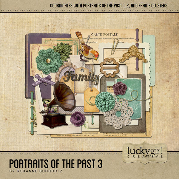 Portraits Of The Past 3 Digital Art - Digital Scrapbooking Kits