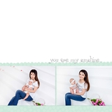 Simple Baby Girl 12x12 Digital Predesigned Pages