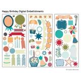 Happy Birthday Digital Embellishments