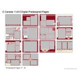 O' Canada 11x8.5 Digital Predesigned Pages