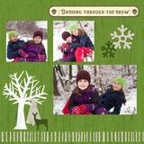 Woodland Christmas 12x12 Page Print Templates
