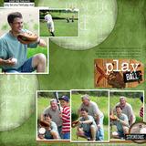 Play Ball Page Pak With Baseball Card