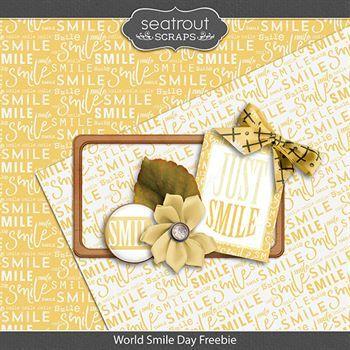 World Smile Day Freebie Digital Art - Digital Scrapbooking Kits