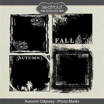 Autumn Odyssey Photo Masks Digital Art - Digital Scrapbooking Kits