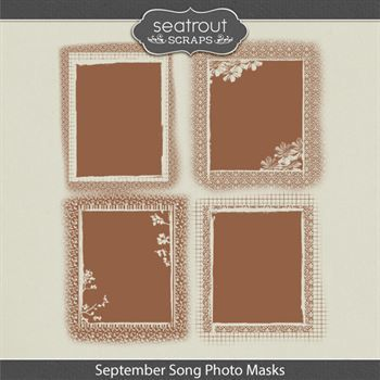 September Song Photo Masks Digital Art - Digital Scrapbooking Kits