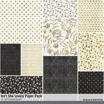 Isn't She Lovely Paper Pack Digital Art - Digital Scrapbooking Kits