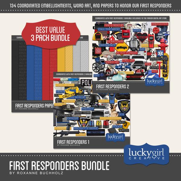 First Responders Bundle Digital Art - Digital Scrapbooking Kits