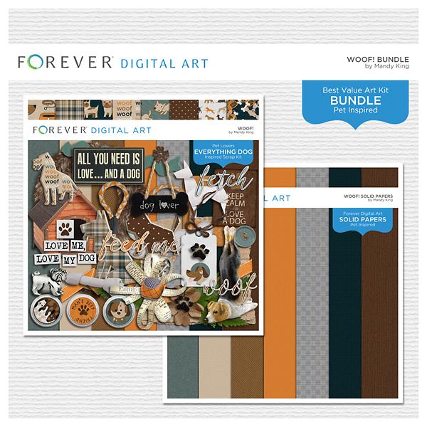 Woof! Bundle Digital Art - Digital Scrapbooking Kits