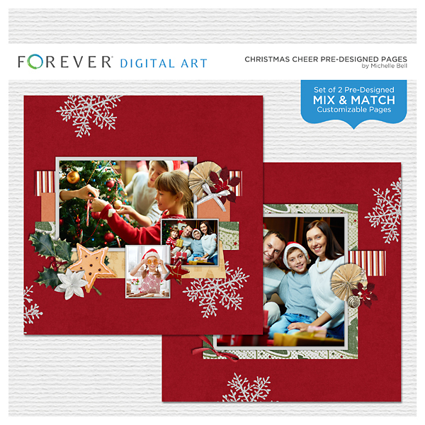 Christmas Cheer Pre-designed Pages