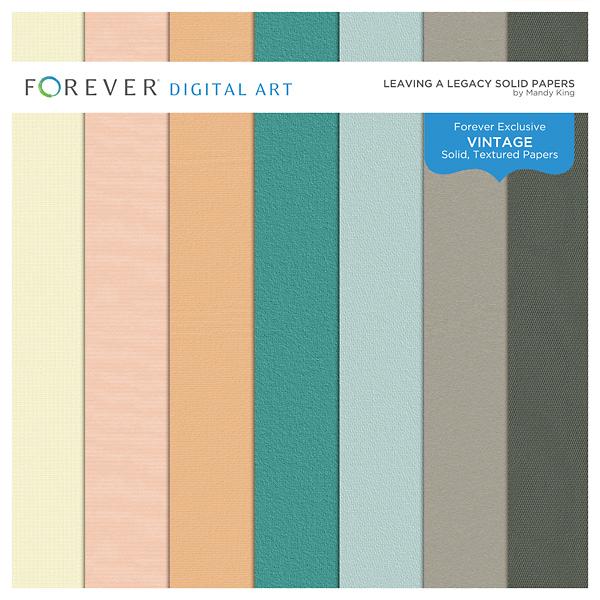 Leaving A Legacy Solid Papers Digital Art - Digital Scrapbooking Kits